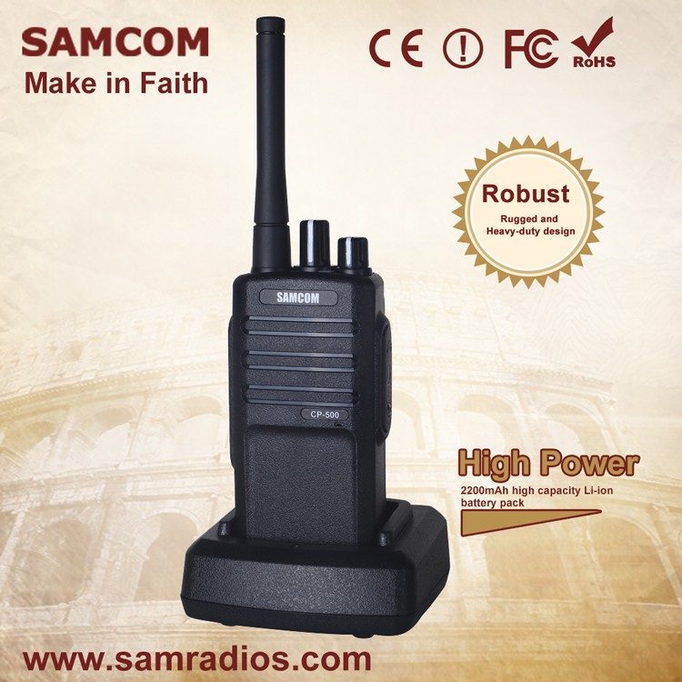 SAMCOM CP-500 2200mAh Li-ion Battery Outdoor Portable Transceiver