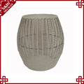 China manufacturer outdoor garden rattan plastic sitting low height stool waterproof woven stool
