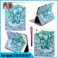 Best Animal Shaped Painting Leather Flip Stand Cover Case for Ipad Pro