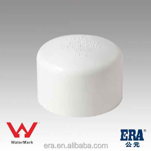 ERA top quality PVC Pipe Fittings end plug/cap,AS/NZS 1477, Watermark Certificate for Australia Market