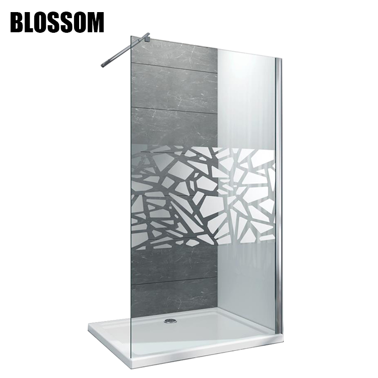 Bathroom Wet Room Support Bar Walk In Tempered Glass Frameless ...