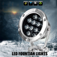 round shape DMX512 control LED underwater light color changeable for fountains