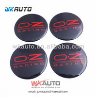 car logo black color OZ wheel cap stick on car badges