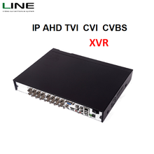 2 HDD storage Security cctv Standalone 16 channel Hybrid Nvr Free cms software H.264 ahd Onvif Dvr recorder xvr