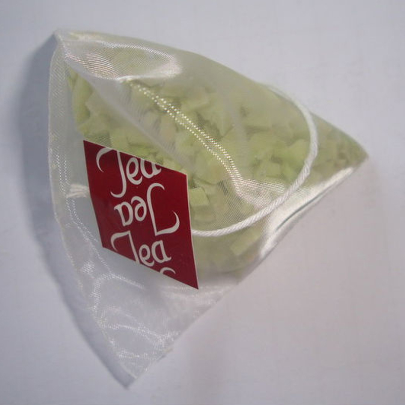 Biodegradable Filter Material Pyramid Bag PLA Nylon Tea Packaging