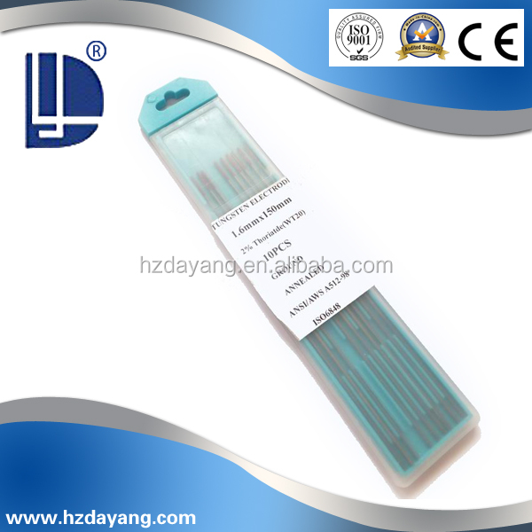 Hot selling welding rods WT20 copper tungsten welding electrodes Thoriated product