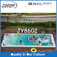 Acrylic whirlpool hydro large above ground pool massage bathtub SPA with stainless steel jet nozzle