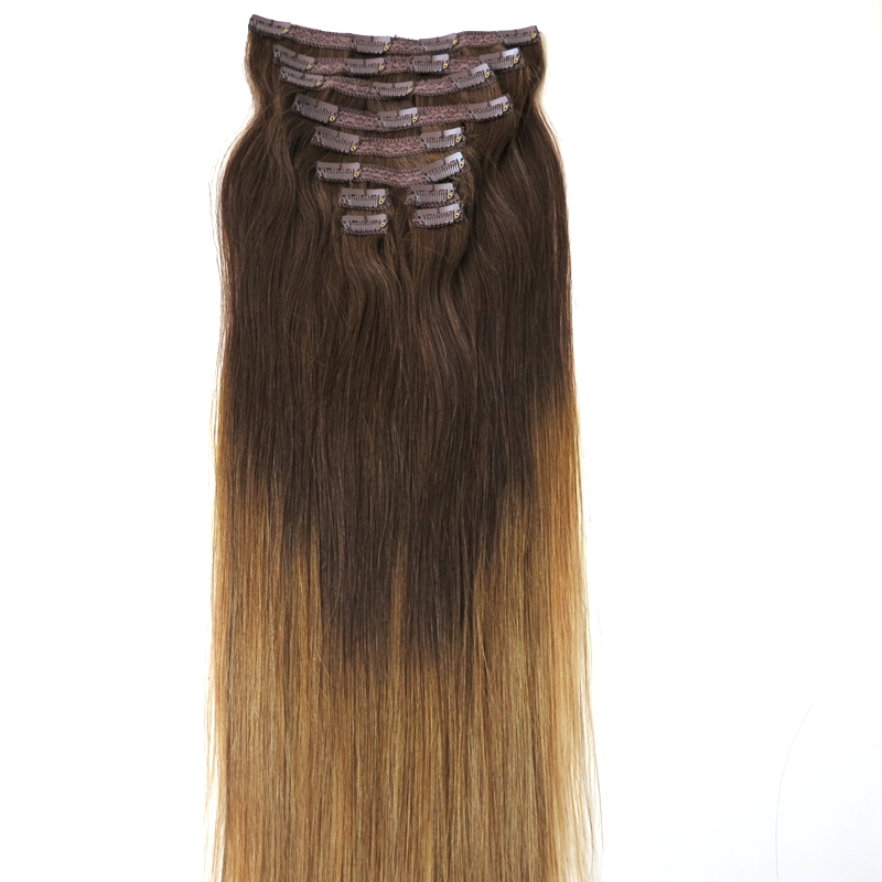 2017 Beautiful hair extensions clips/ clip in hair extensions for african american/clip hair