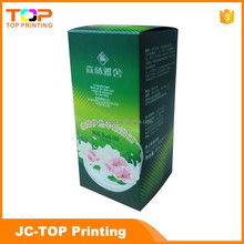 Green flower pattern bath oil paper box