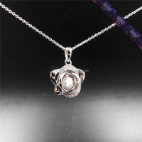 *JP0143 - Dancing Stone pendant,sterling silver cage pendant wholesale