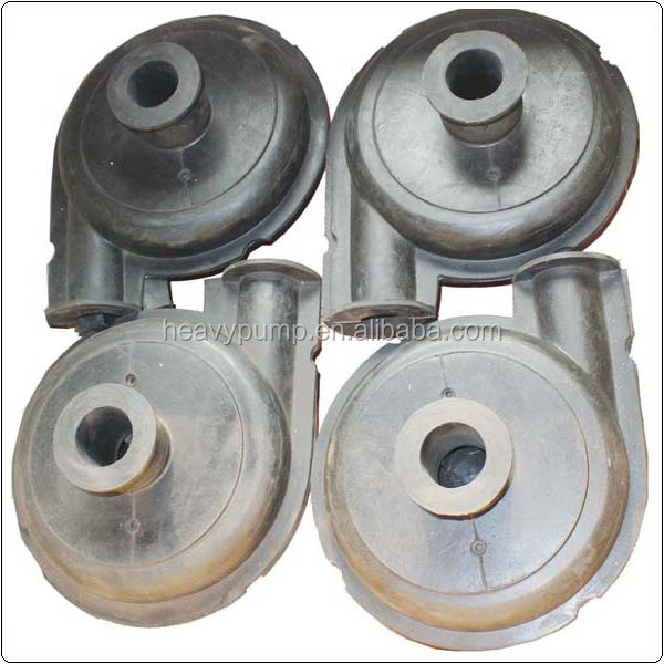 rubber impeller pump parts of slurry pump