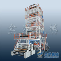 JinXin brand the most welcomed 5 layer mllde lldpe ldpe hdpe plastic film extruder