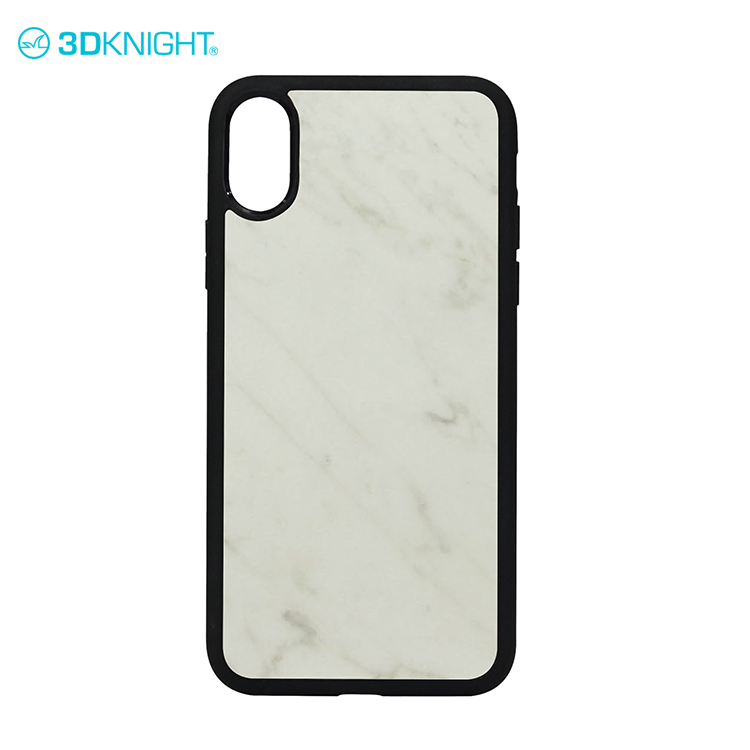 Natural real marble white for iphone X cover case