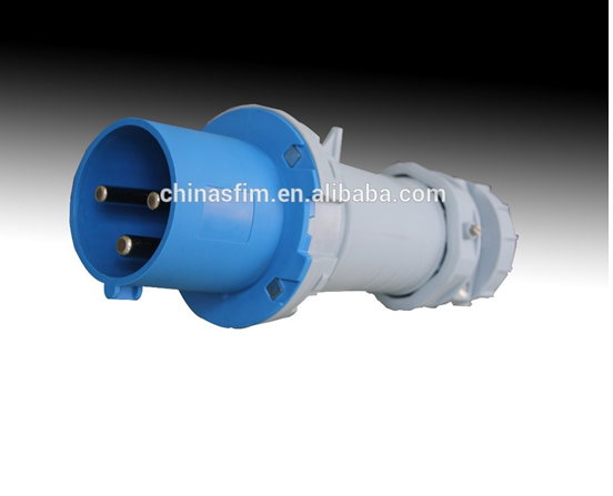 High Quality IP67 230V 63A 3 Pin European Industrial Waterproof Plug