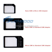 High Quality 3 in 1 Nano Sim Card Adapters Standard Sim Card adapter for iphone