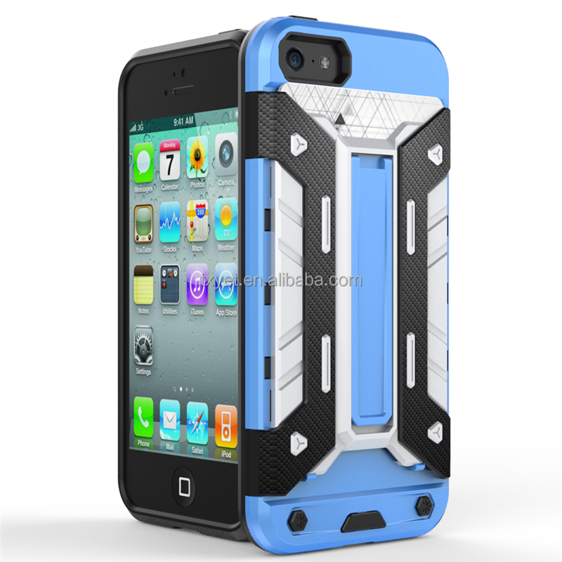 High quality good price 2 in 1 pc tpu protective phone case for iphone 5 case