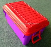 Colorful Weave Design Plastic Storage Box with Handle
