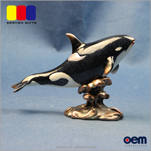 High Glossy Resin Killer Whale Statues Polyresin Sea Animal Ornament