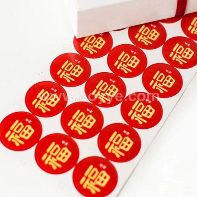 Wholesale new year red round everyone thank design mooncake decorate sealing stickers