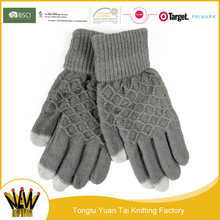 China wholesale king size fabric touch screen mitten gloves