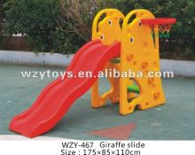 China Plastic Giraffe Slide For Children