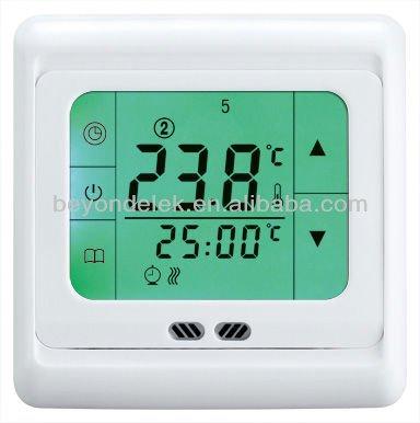 fu bodenheizung digitalen thermostat mit touchscreen. Black Bedroom Furniture Sets. Home Design Ideas