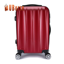 Cheap plastic hard case trolley luggage set spinner carry on pc abs luggage