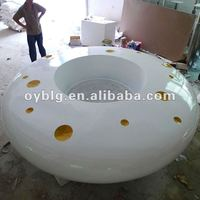 big flower pots furniture for hotel or shopping mall use