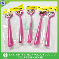 Lovely Designed Advertising Soft Plastic Brilliant Rosy Gel Pen, Ball Pen