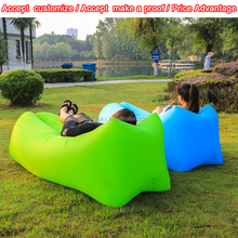 2017 newest low price lay bag camping inflatable sofa hangout lazy sofa for summer