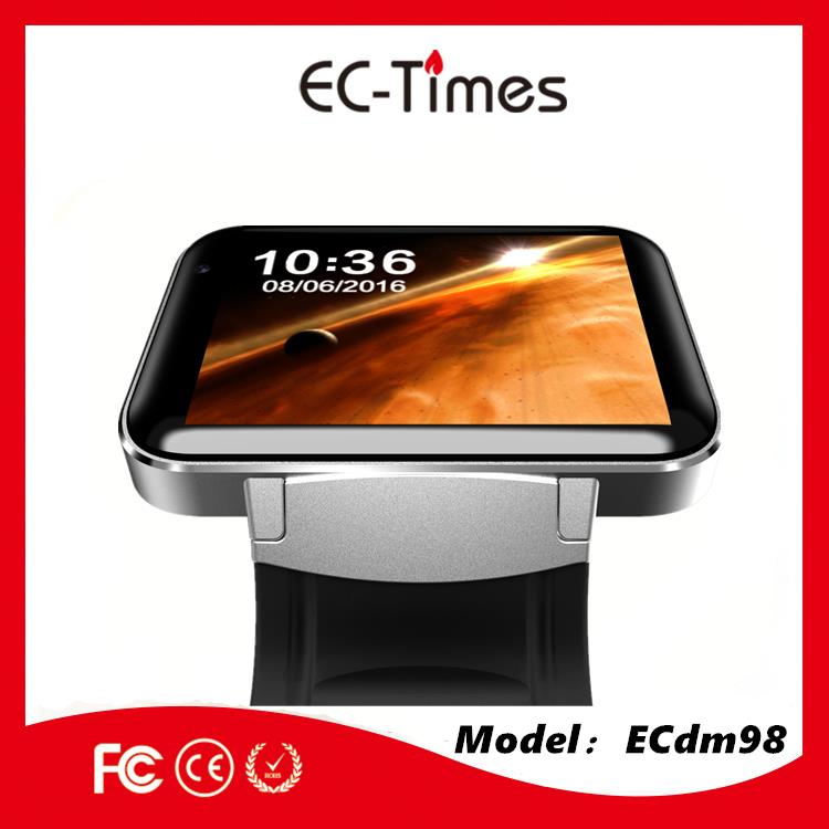 stainless steel back water resistant watch 3G WIFI GPS android samrt watch hand watch mobile phone