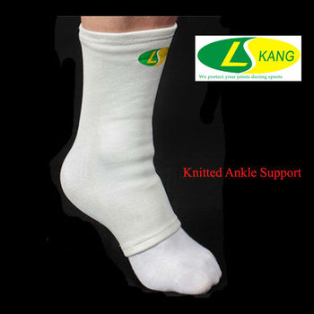 Cotton Fabric Knitted Ankle Protector For Achilles Injury