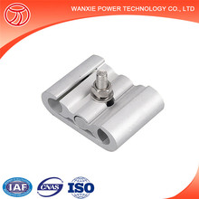 Wanxie aluminum wire clamp overhead insulated wire clamp c shape bolt clamp