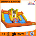 2014 Hot-selling Inflatable one line Mega Water Slide with pool