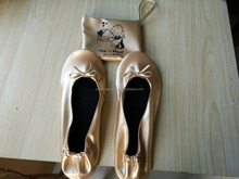 Lady Roll Up Ballerina Shoes In Bag