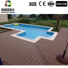 NEW Grooved Wood Grained WPC Decking cheap price composite floor