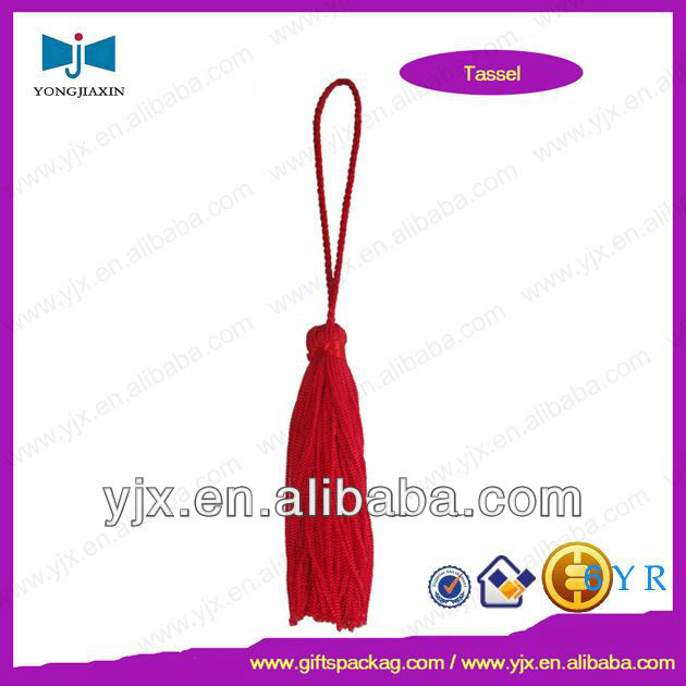red handmade fringe curtain beaded tassels