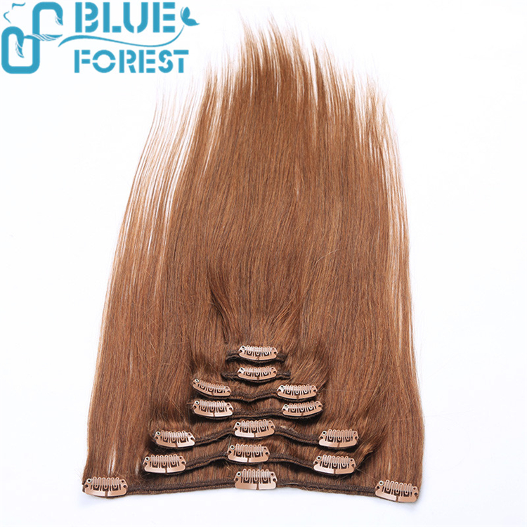 2016 hot sale luxury brazilian hair extensions clips in hair extension