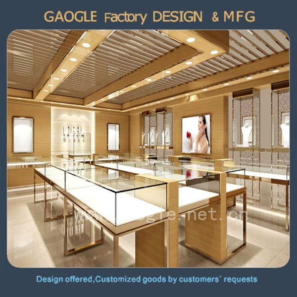latest design jewelry display cases wholesale used tempered glass