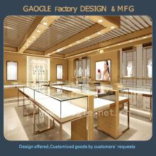 wholesale latest shop design glass used jewelry display cases