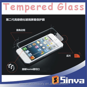 sinva factory full cover tempered glass for iPhone 6 screen protector golden, OEM/ODM packaging