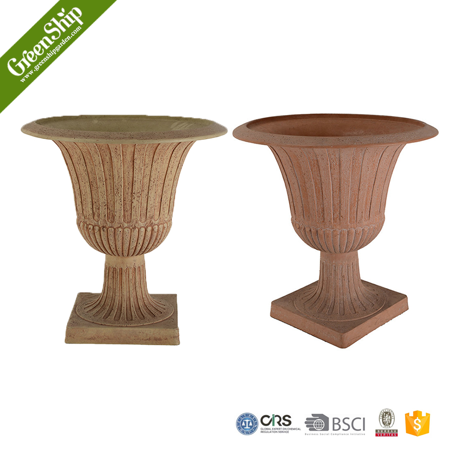 Light weight garden urn planter wholesale - GreenShip