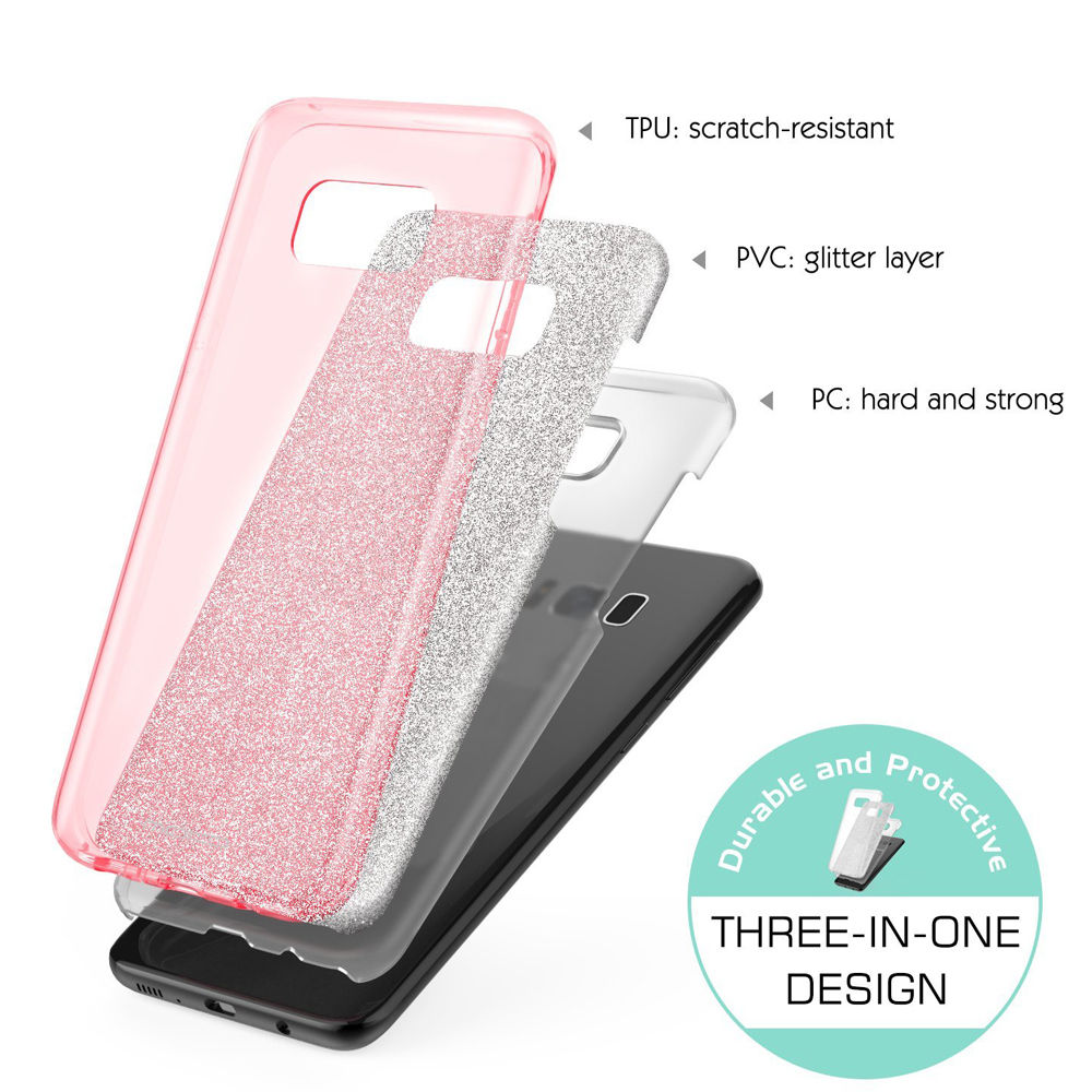 Glitter Bling Cell Phone TPU Bumper Case For Samsung Galaxy S8
