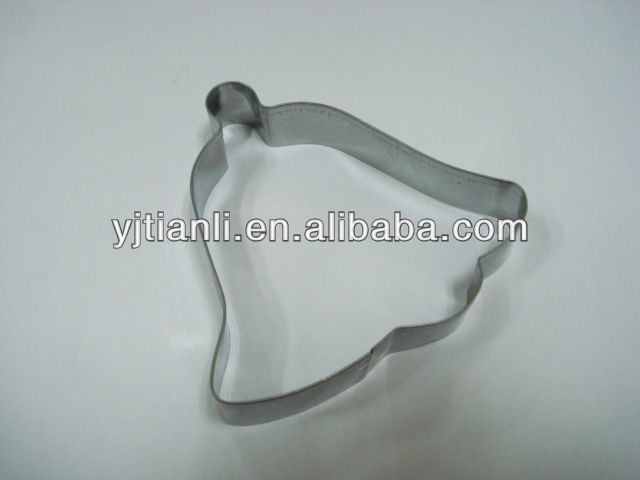 Metal bell shape decorative cheese cake cutter /cookie embossing stencil