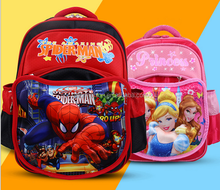Children frozen cartoon backpack fashion spiderman schoolbag kids 3D mouse student bags