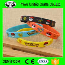 New Design Fashion Unisex Silicone Rubber Pokemon Go Band Wristband Bracelet