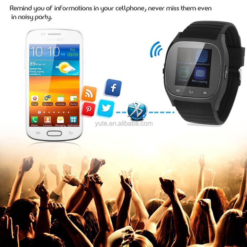 Manufactory China Hottest sale hand watch mobile phone price M26 for Android Bluetooth