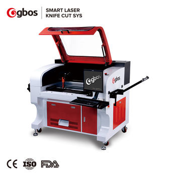 Gbos High Performance Camera Capture CNC CO2 Laser Cutter Cutting Machines For Woven And Embroidery Label Logo