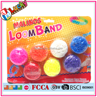 Silicon rubber band toys rubber band roll loom band for kids
