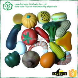 New arrival hot selling fruits and vegetable stress ball